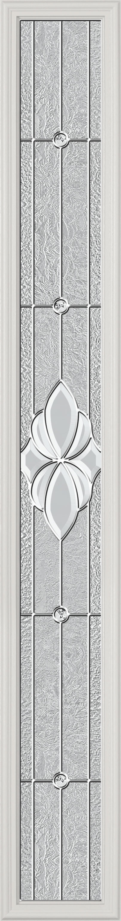 "Grosvenor Glass and Frame Kit (Full Sidelite 7"" x 64"" Glass Size)"