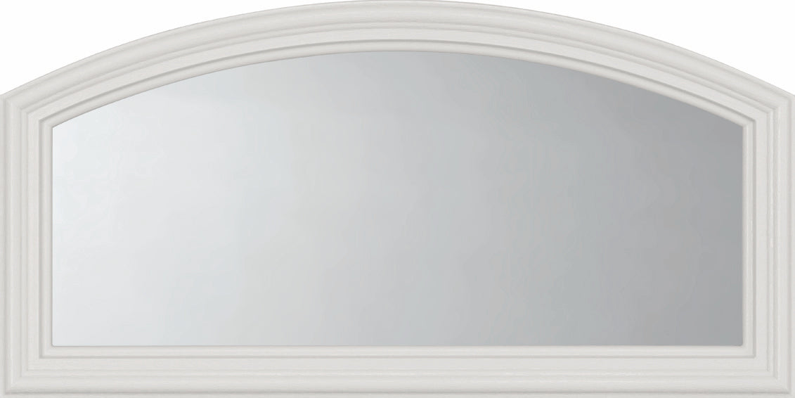 "Clear Arched Top Glass and Frame Kit (Fanlite 22"" x 10"" Glass Size)"
