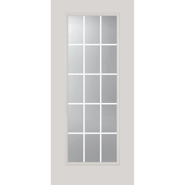 "Grills Between Glass 15 Lite Glass and Frame Kit (Full Lite 22"" x 64"" Glass Size)"