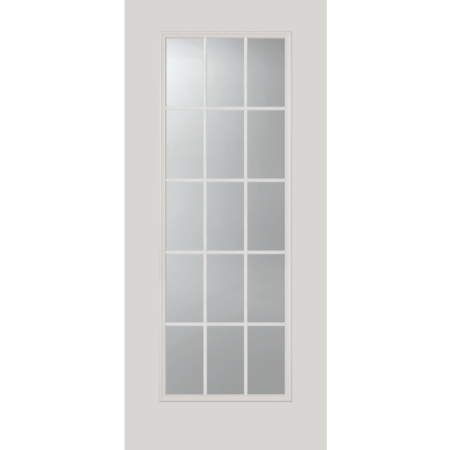 "Clear 15 Lite Glass and Frame Kit (NARROW Full Lite 20"" x 64"" Glass Size)"