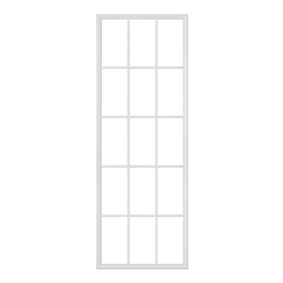 "NARROW Full Lite with 15 Grids 22"" x 66"" Frame Kit for 1/2"" Glass"