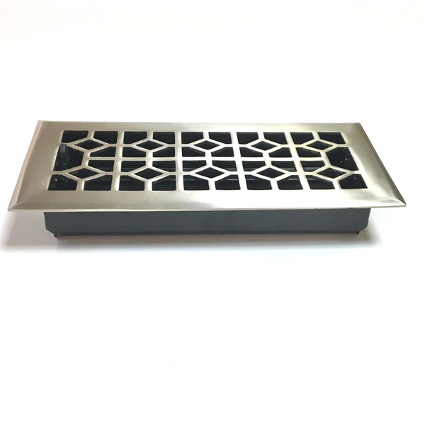 Satin Nickel Floor Register