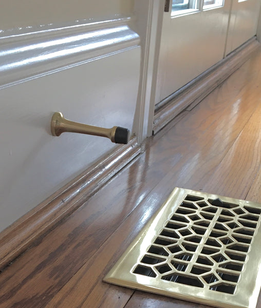 Polished Brass Door Stop