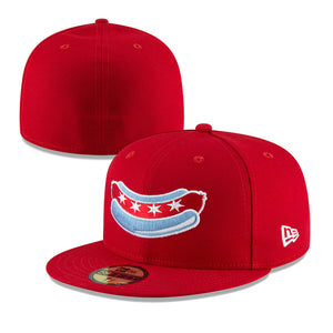 Chicago Dogs New Era 59FIFTY Alternate Core Fitted Field Cap - Red - Chicago Dogs Team Store