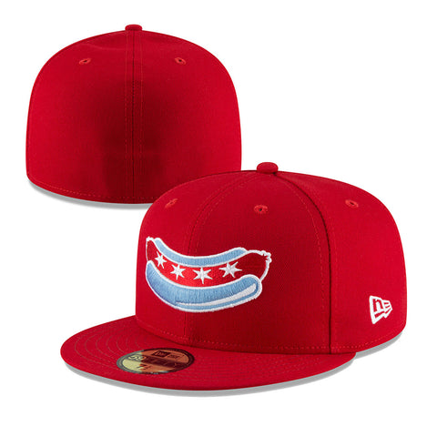 Chicago Dogs New Era 59FIFTY Alternate Core Fitted Field Cap - Red