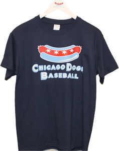 Chicago Dogs Youth Secondary Logo Short Sleeve Basic Tee – Navy - Chicago Dogs Team Store