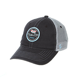 CHICAGO DOGS ZEPHYR LAGER HOT DOG CHARCOAL/GREY MESH ADJUSTABLE SNAPBACK CAP - Chicago Dogs Team Store