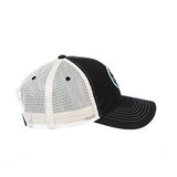 CHICAGO DOGS ZEPHYR LAGER HOT DOG BLACK/STONE MESH ADJUSTABLE SNAPBACK CAP - Chicago Dogs Team Store