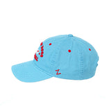 CHICAGO DOGS ZEPHYR  PATRON HOT DOG LT BLUE ADJUSTABLE STRAPBACK CAP
