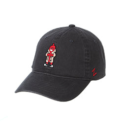 CHICAGO DOGS ZEPHYR  KETCHUP CHARCOAL ADJUSTABLE STRAPBACK CAP