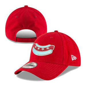 Chicago Dogs New Era 9FORTY Alternate Core Adjustable Field Cap - Red - Chicago Dogs Team Store