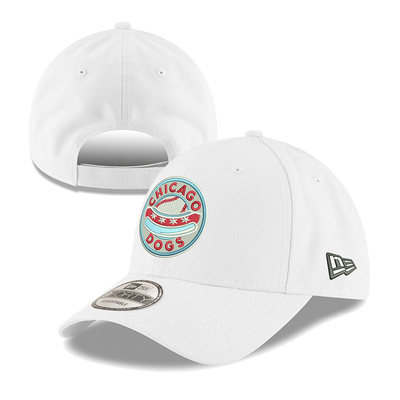 Chicago Dogs New Era 9FORTY Primary Core Adjustable Field Cap - White - Chicago Dogs Team Store