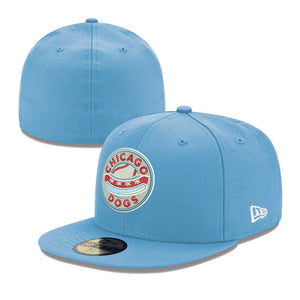 Chicago Dogs New Era 59FIFTY Primary Core Fitted Field Cap - Light Blue