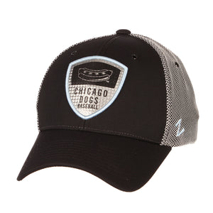 Chicago Dogs Zephyr Armour Blue Accent Adjustable Hat - Black/Grey