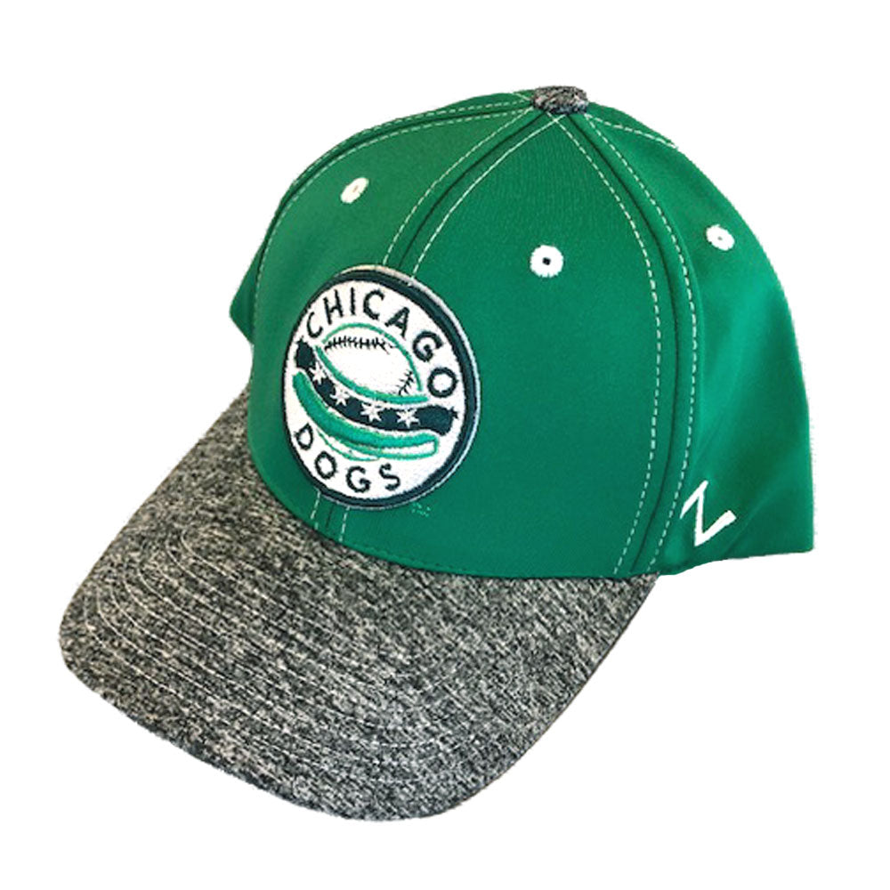 Chicago Dogs Zephyr St. Patrick's Day Green Shilling Flex Fit Hat - Chicago Dogs Team Store