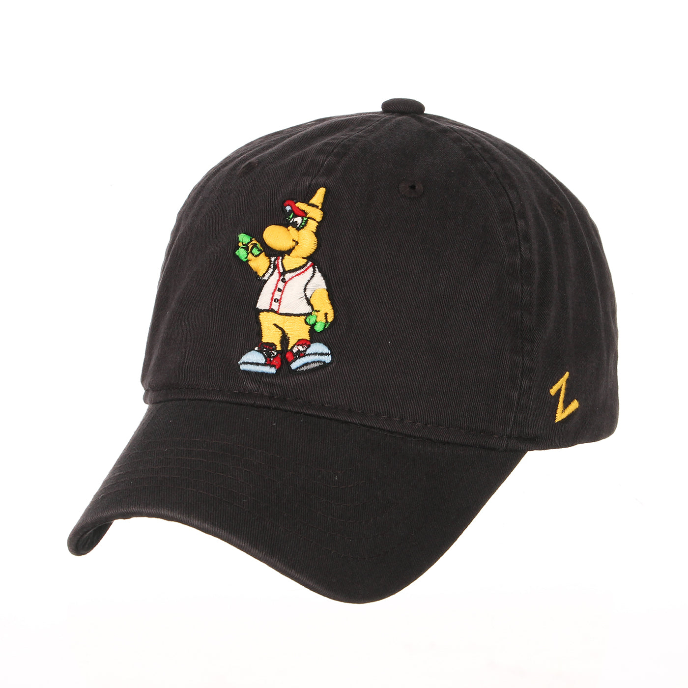 Chicago Dogs Zephyr Mascot Adjustable Slouch Hat - Black - Chicago Dogs Team Store