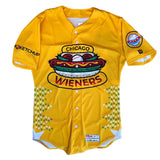 Chicago Dogs Wilson Pro Fusion Mens #18 Replica Wieners Jersey - Yellow - Chicago Dogs Team Store