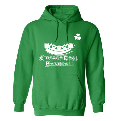 Chicago Dogs Men's St. Patrick's Day Secondary Logo Pullover Hoodie - Green - Chicago Dogs Team Store