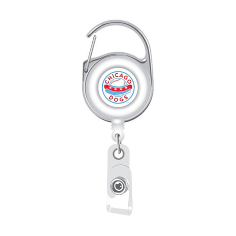 Chicago Dogs Aminco Deluxe Clip Badge Reel - White