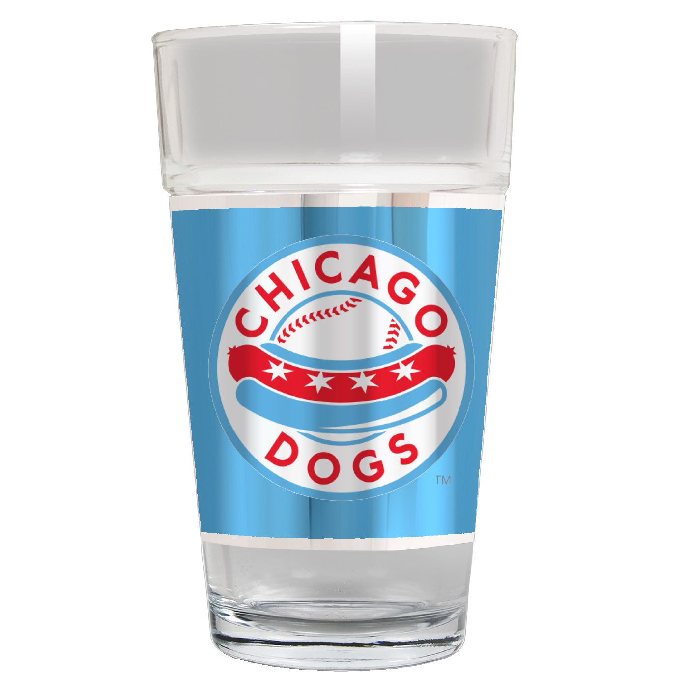 Chicago Dogs Wrapped Pint Glass