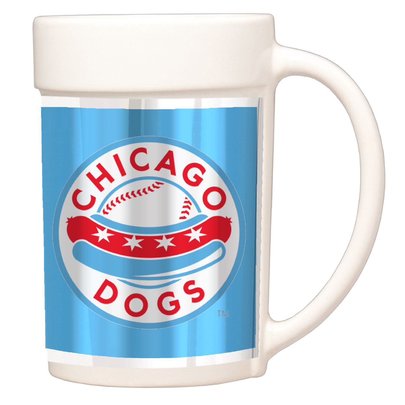 Chicago Dogs Ceramic Coffee Mug - White - Chicago Dogs Team Store