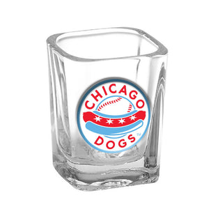 Chicago Dogs Square Shot Glass - Chicago Dogs Team Store