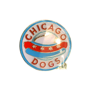 Chicago Dogs Aminco Circle Logo Pin - Chicago Dogs Team Store