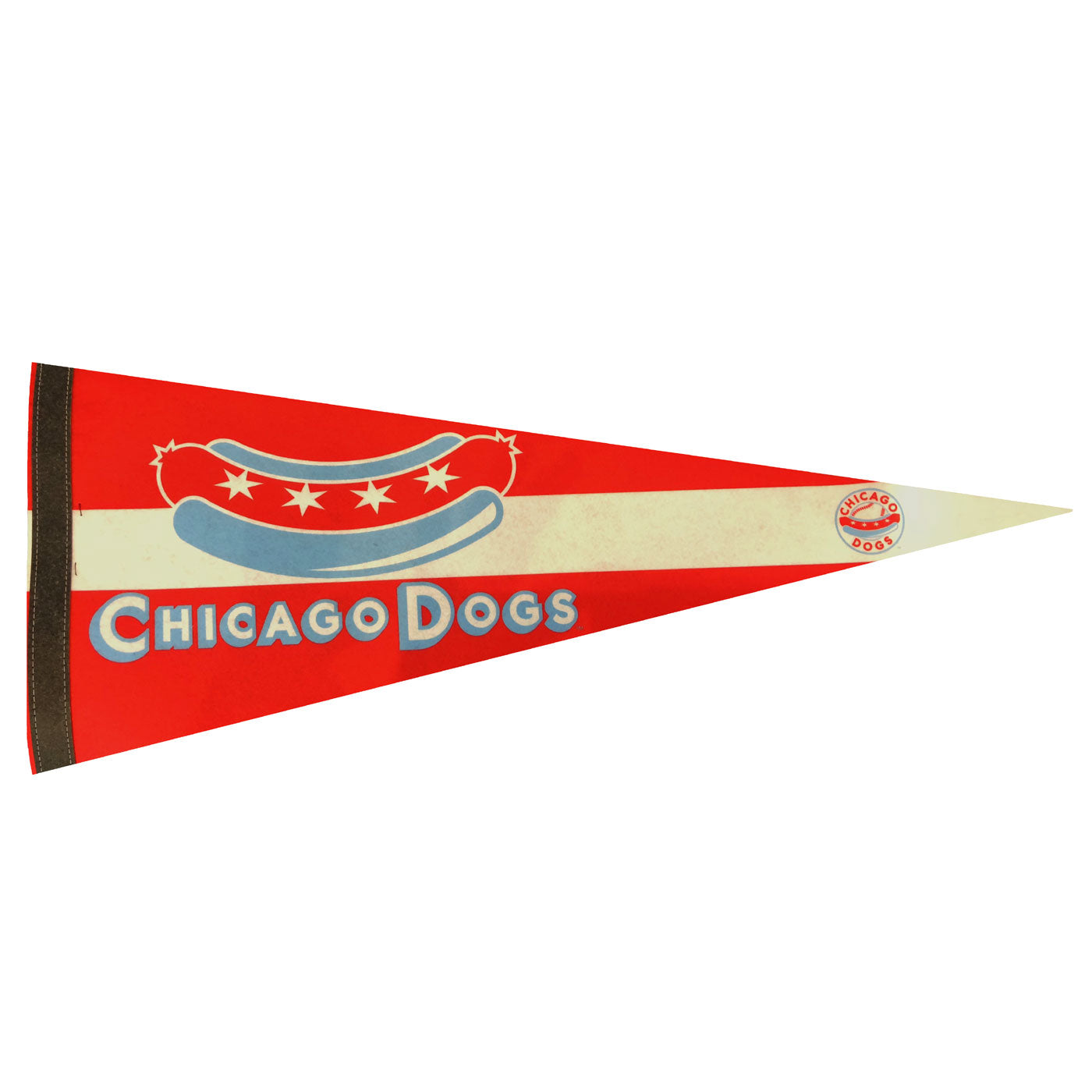 Chicago Dogs WinCraft 12x30 Premium Felt Pennant - Chicago Dogs Team Store
