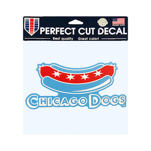 Chicago Dogs WinCraft 8x8 Secondary Logo Perfect Cut Decal