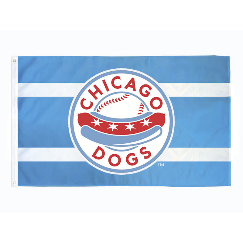 Chicago Dogs WinCraft 3x5 Primary Logo Flag - Sky Blue - Chicago Dogs Team Store