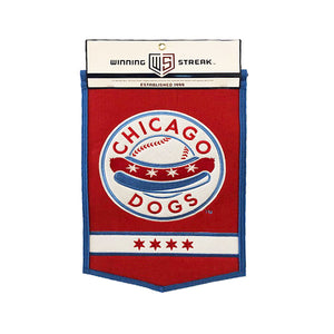 Chicago Dogs Winning Streak Sports 12x18 Wool Traditions Banner - Red - Chicago Dogs Team Store