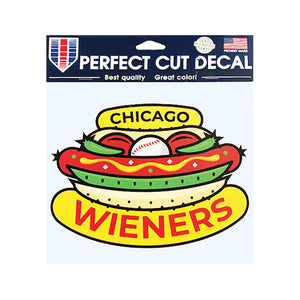 Chicago Dogs WinCraft 8x8 Chicago Wieners Logo Perfect Cut Decal