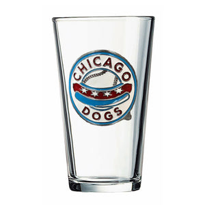 Chicago Dogs Great American Products Classic 16 oz. Pint Glass - Chicago Dogs Team Store