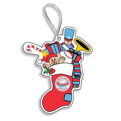 Chicago Dogs WinCraft 3-inch Stocking Acrylic Holiday Ornament