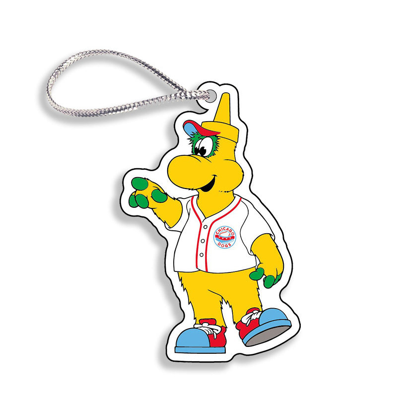 Chicago Dogs WinCraft 3-inch Squeeze Mascot Acrylic Holiday Ornament - Chicago Dogs Team Store