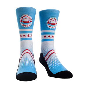 Chicago Dogs Rock Em Chicago Flag Themed Socks
