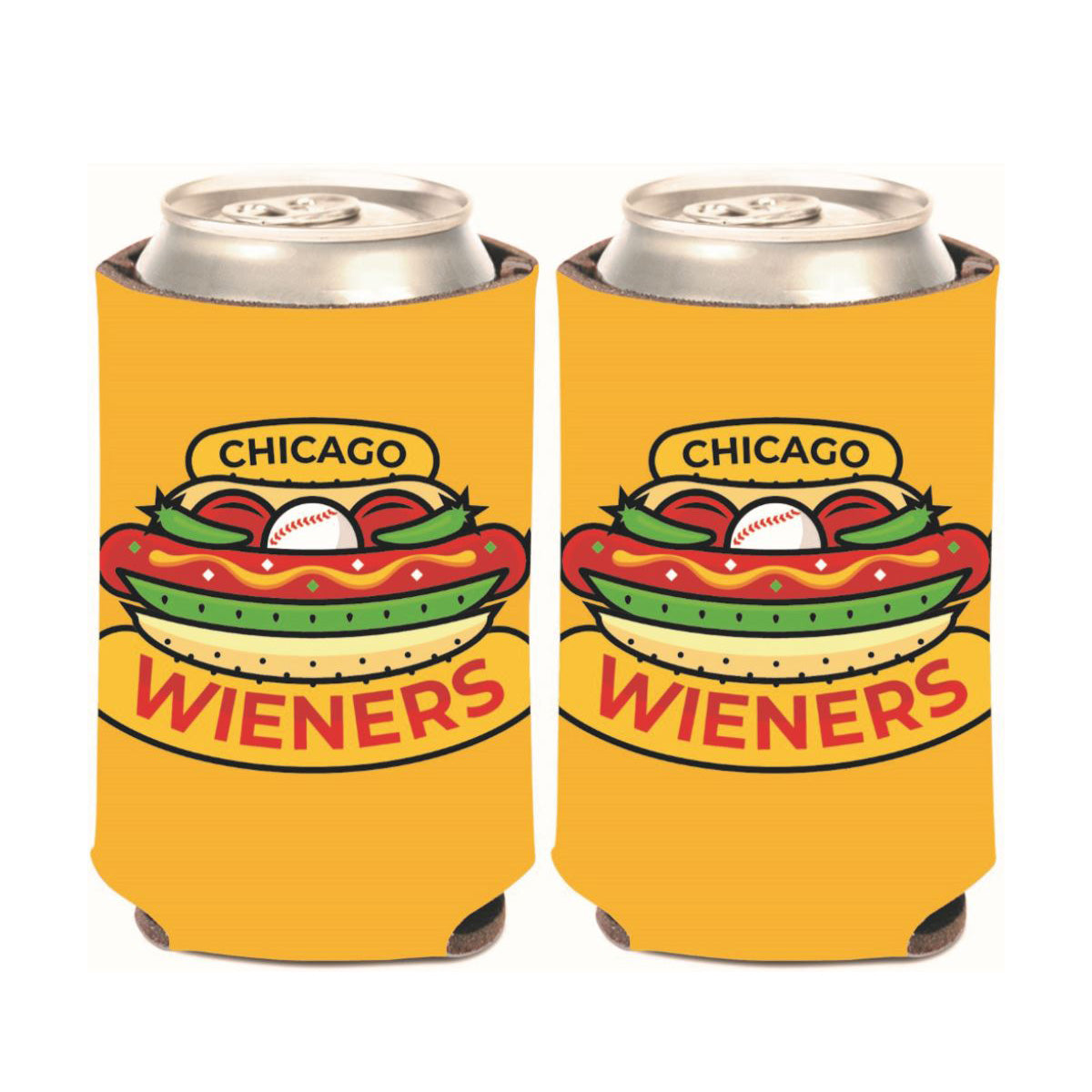 Chicago Dogs WinCraft Chicago Wieners Logo Can Koozie - Chicago Dogs Team Store