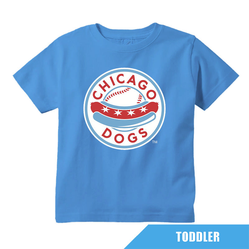 Chicago Dogs Outerstuff Toddler Primary Logo Tee - Sky Blue - Chicago Dogs Team Store
