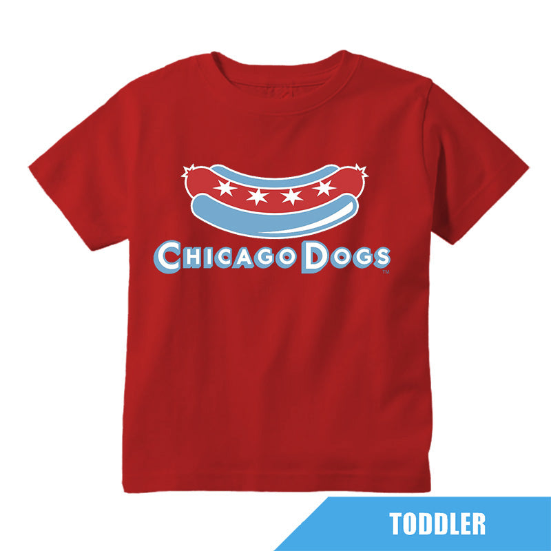 Chicago Dogs Outerstuff Toddler Secondary Logo Tee - Red