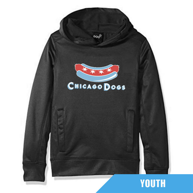 Chicago Dogs Outerstuff Youth Performance Hoodie - Charcoal - Chicago Dogs Team Store