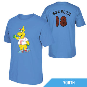Chicago Dogs Youth Squeeze Mascot Tee - Light Blue