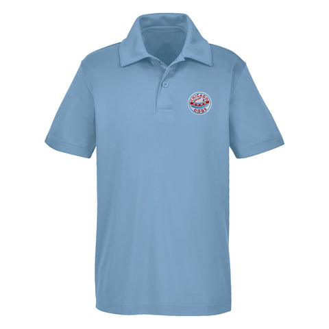 Chicago Dogs Mens Performance Polo - Light Blue
