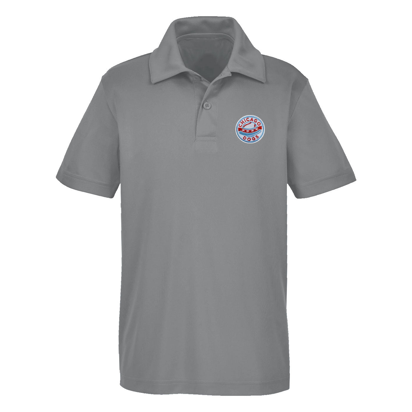 Chicago Dogs Mens Performance Polo - Grey - Chicago Dogs Team Store