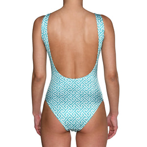 Turquoise Grecian Swimsuit