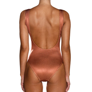Grecian Brick Red Swimsuit