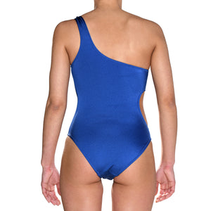 Electric Blue One Shoulder Swimsuit
