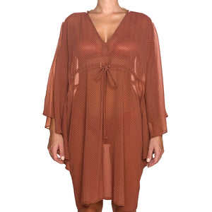 Grecian Brick Red Mini Kaftan
