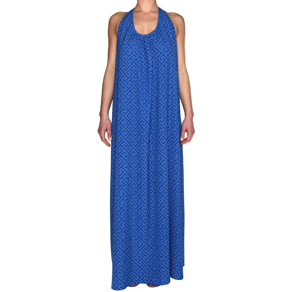 Royal Grecian Blue Maxi Dress