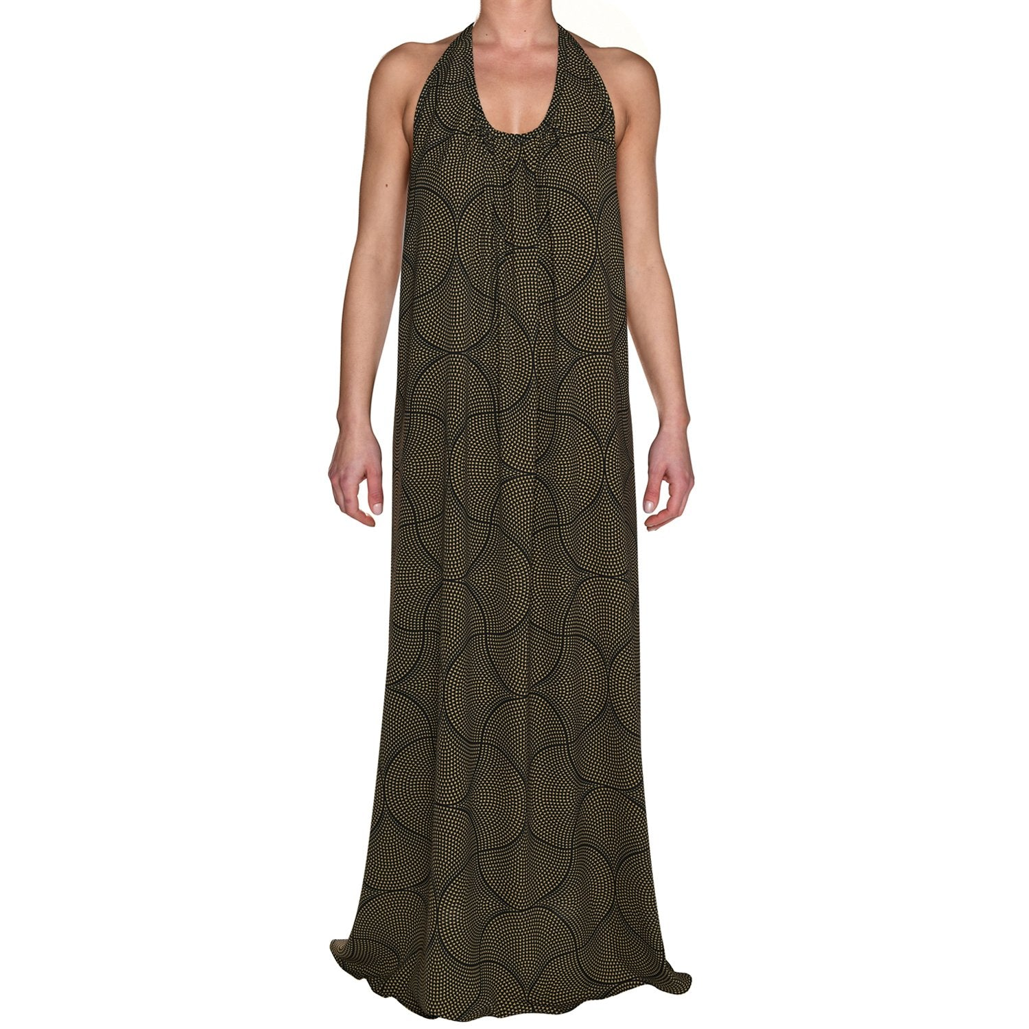Mosaic Black & Gold Maxi Dress