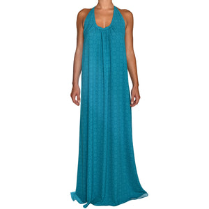 Cerulean Cyan Maxi Dress